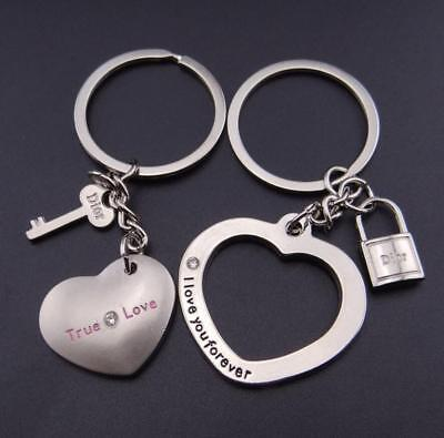 £3.50 • Buy  PERFECT His And Hers I LOVE YOU Heart Couple Keychain Keyring Lover Gift
