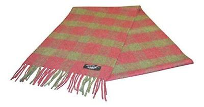 $48.66 • Buy 100% Cashmere Scarf - Green/Burgundy Check - Made In Scotland