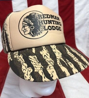 4da848bf Vintage RED MAN Hunting Lodge Chewing Tobacco Trucker Hat Cap Snapback NEW  Camo • 39.90$