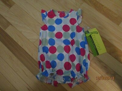 $18.99 • Buy New W/ Tags One Piece Zuccini Bubble Bright Polka Dots Great To Monogram