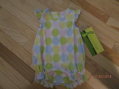 $18.99 • Buy New W/ Tags One Piece Zuccini Bubble Pastel Polka Dots Great To Monogram