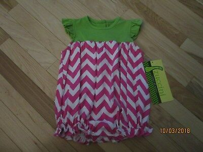 $19.25 • Buy New W/ Tags One Piece Zuccini Bubble Hot Pk & Wt Chevron W/ Gr Top Monogramable