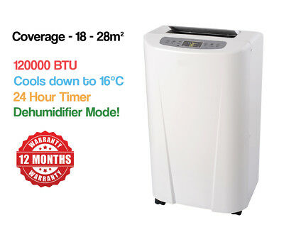AU299 • Buy BRAND NEW 12000BTU PORTABLE AIR CONDITIONER 3 COOLING MODES 18-28m² COVERAGE