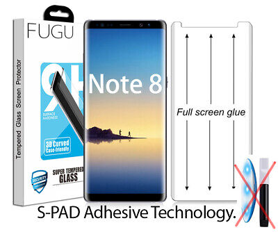 $ CDN16.35 • Buy FUGU Full Glue Curved Tempered Glass Screen Protector For Samsung Galaxy Note 8