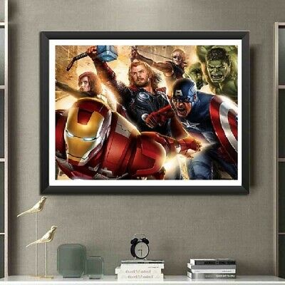 The Avengers Full Drill 5D Diamond Painting Embroidery Cross Stitch Kit MA • 5.99£