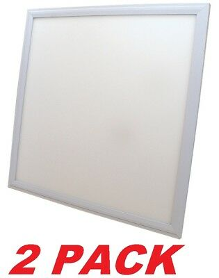 Recessed LED Flat Panel Light Fixture 2' X 2' Fluorescent REPLACEMENT (2 PACK) • 75.67£
