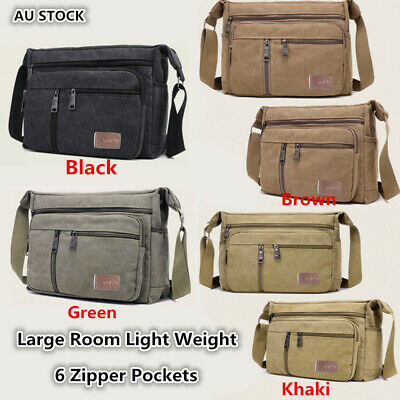 AU22.69 • Buy Retro Men's Canvas Shoulder Messenger Bag Crossbody Satchel Travel Man's Bags AU