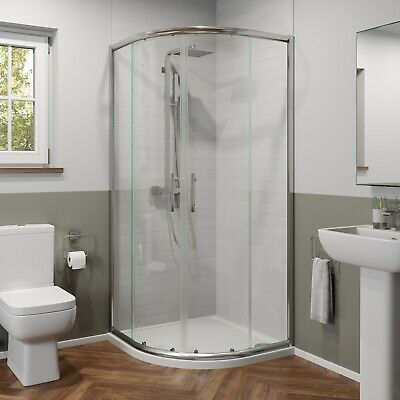 £179.99 • Buy 900mm X 900mm Quadrant Shower Enclosure 6mm Safety Glass Walk In Cubicle Framed