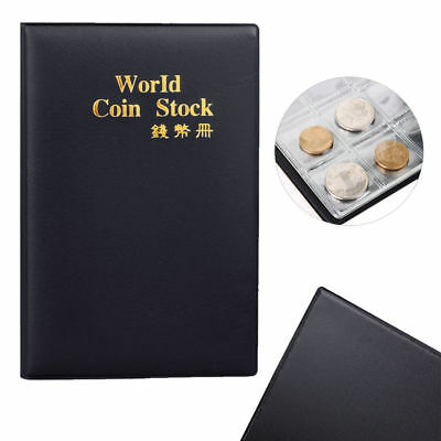£5.95 • Buy Small Black Coin Collectors Wallet Pocket Album Value Holds 120 Coins 50p £1 [D]
