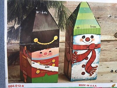 $ CDN30.22 • Buy Vintage Christmas Gift Boxes, Snowman And Soldier, New
