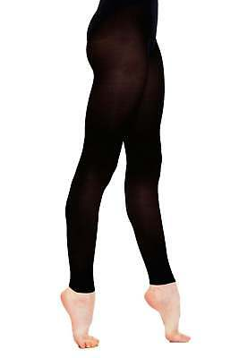 £5.99 • Buy Ladies Adult Silky Footless Dance Tights In Black - Available In S, M, L, Xl