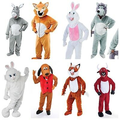 Adult Happy HORSE Mascot Farmyard Stables Animal Fancy Dress Costume Unisex