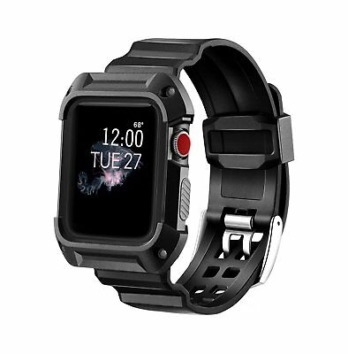 AU18.34 • Buy MAIRUI Rugged Protective Case With Strap Bands For Apple Watch Series 1, 2 And 3