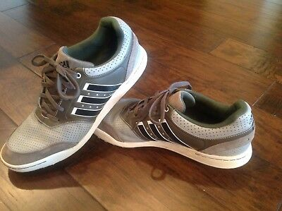 754b00c4c13 Men s Adidas Adicross III Spikeless Golf Shoes Size 13 Gray White • 38.00