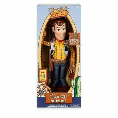 £36.99 • Buy DISNEY Talking Woody Doll Toy Story 4 Interactive Action Figure 35cm **NEW* Buzz