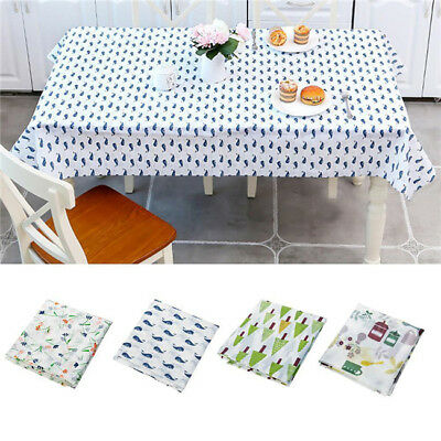 AU11.06 • Buy Wipe Clean PEVA Tablecloth Dining Kitchen Table Cover Waterproof G