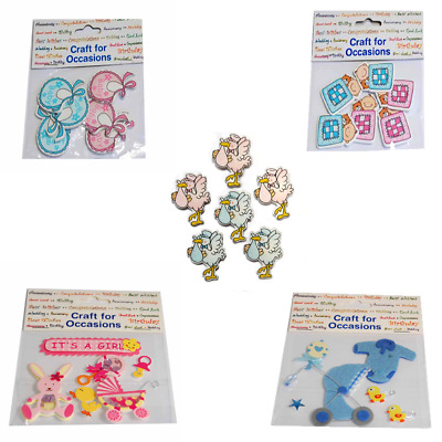 Self Adhesive Baby Embellishment For Card Making,Scrapbooking,Baby Shower Decor • 1.75£