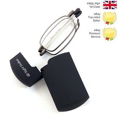 FOSTER GRANTS SIGHTSTATION FOLD UP READING GLASSES All Strengths RRP £25 UK 🇬🇧 • 2.99£