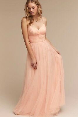68fd9456a4e3 NEW $260 BHLDN Watters Tinsley Bridesmaids Dress Size 4 Blush Pink Tulle •  148.00$