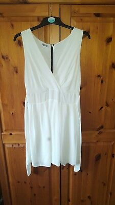 £12 • Buy Topshop Wal G White Wrap Over Dress - Size 12