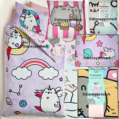 Pusheen Unicorn DUVET COVER SET Single Double King Cushion Mermaid Purrmaid Cat • 17.97£
