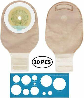 $29.99 • Buy 20Pcs Ostomy Bags One Piece Drainable Pouches For Colostomy Ileostomy Stoma Care