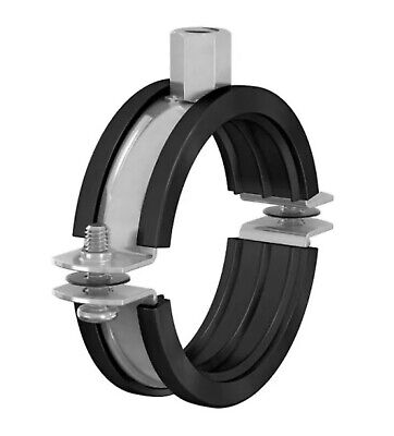 Rubber Lined Munsen Rings Pipe Clip Jubilee Anti Vibration • 2.10£