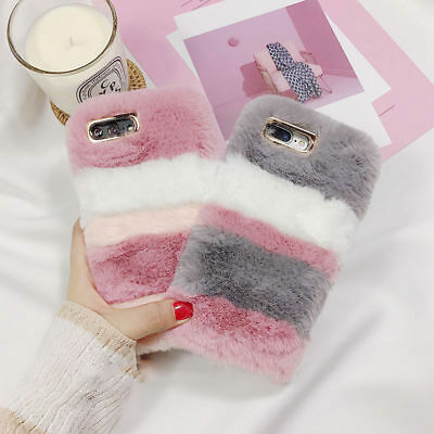 Girls Soft Warm Plush Fluffy Phone Case Cover Comfy Faux Fur For IPhone • 4.99£