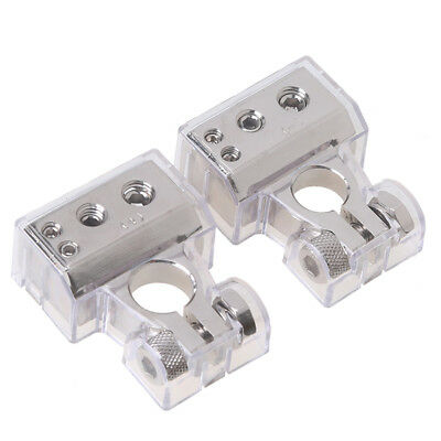 AU41.04 • Buy 0/4/8 Gauge AWG Battery Terminal Connector Silver Positive Negative Heavy Duty