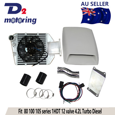 AU599 • Buy Top Mount Turbo Intercooler Kit For TOYOTA Landcruiser 80 Series 1HZ 1HDT 4.2 TD