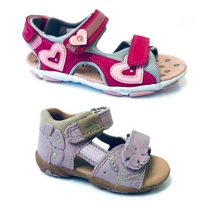 Superfit Kids Girls Casual Beach Holiday Shoes Leather Strap Infant Slip On Sand • 24.99£