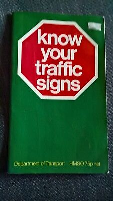 £2.50 • Buy Know Your Traffic Signs 1984 Paperback ISBN 0115505504