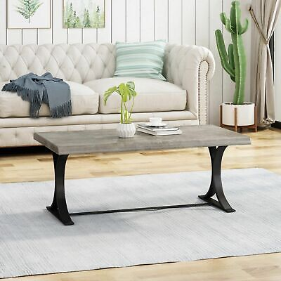 $166.75 • Buy Darvia Modern Industrial Coffee Table With Trestle Legs