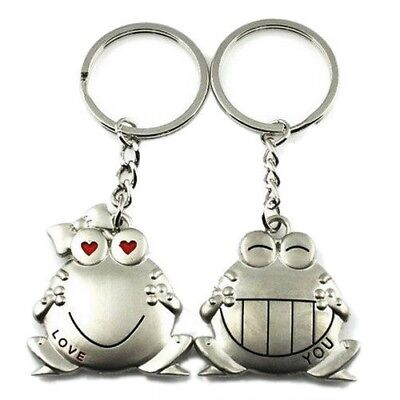 £3.99 • Buy 'Love You' Couples Frog Keyring Pair Keychain Lovers Gift