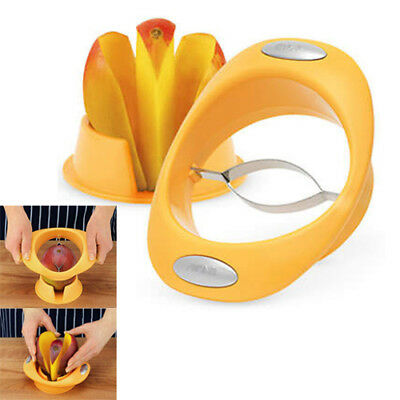 AU17.95 • Buy 100% Genuine! AVANTI Mango Slicer Cutter Pitter Peeler With Holder Yellow!