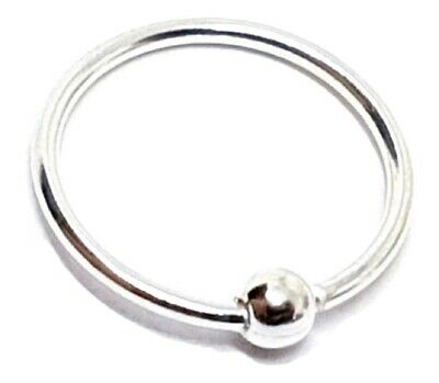 AU29.67 • Buy Nose Ring Small Tiny Hoop Septum 22g (0.6mm) 7mm Cbr Ball Fix One Side Hoop Ball