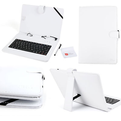 White PU Leather German Keyboard Case For Samsung Galaxy Tab S 10.5  / Note 10.1 • 13.99£