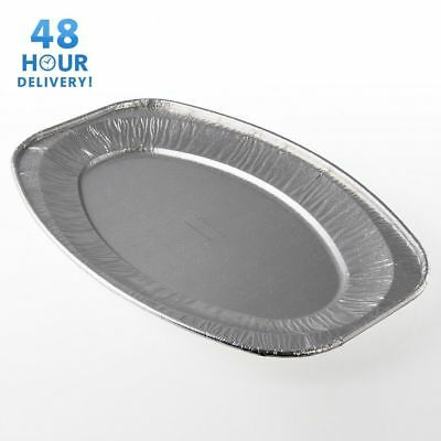 Oval Aluminium Foil Tray Buffet Disposable Party Serving Food Platters • 9.25£