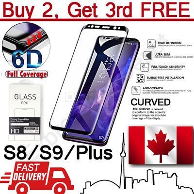 $ CDN5.99 • Buy Premium 6D Edge To Edge Full Cover Curved Tempered Glass Screen Protector