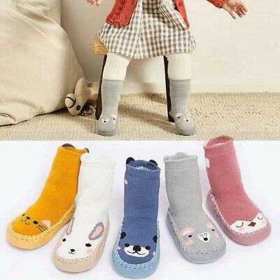 Lovely Toddler Baby Girl Boy Cotton Thick Warm Anti-Slip Socks Slipper Boot Sock • 3.09£