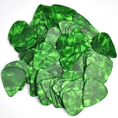 $ CDN14.63 • Buy 100 Pcs New Blank Heavy 0.96mm Guitar Picks Plectrums Celluloid Pearl Green