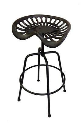 AU349.95 • Buy Set 2 Vintage Tractor Seat Cast Iron Metal Bar Stools Industrial Furniture 81cm