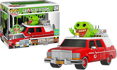 Funko Pop Vinyl Rides Ghostbusters Ecto 1 Red With Slimer Sdcc 2016 Exclusive • 34.10£