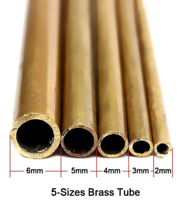 £1.49 • Buy Brass Tube Pipe Tubing Round Outside  2mm 3mm 4mm 5mm 6mm Long 300mm Wall 0.45mm