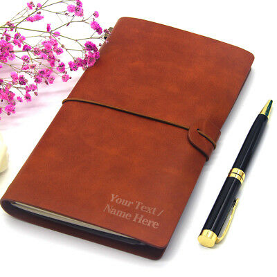 £11.99 • Buy Personalised Engraved Notebook Leather Journal Diary School Leaving Teacher Gift