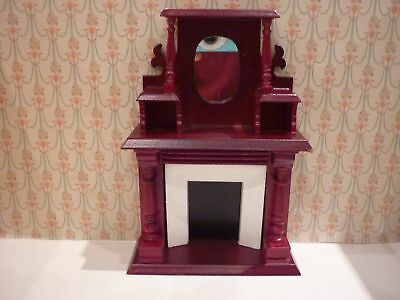 Dolls House Emporium  Victorian Fireplace With Overmantel  • 15£