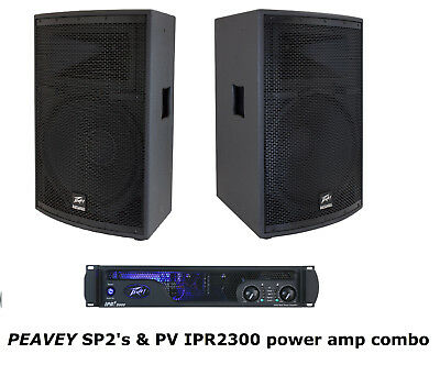 PEAVEY IPR2 3000 & Two PEAVEY SP2 Speakers Ships FREE To USA! • 1,619.87$