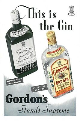 Gordon's Gin 1930's Advert Vintage Retro Style Metal Sign, Bar, Man Cave • 2.49£