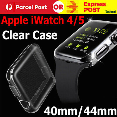 AU6.29 • Buy For Apple Watch Series 5 4 IWatch 40/44mm Clear TPU Screen Protector Case