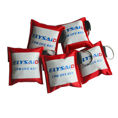 £2.20 • Buy First Aid Resuscitation CPR Life Key Face Shield Barrier Mouth To Mouth+Gloves
